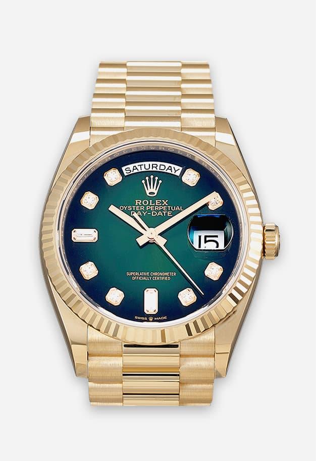 Rolex Day-Date Gold Grün 128238-0069