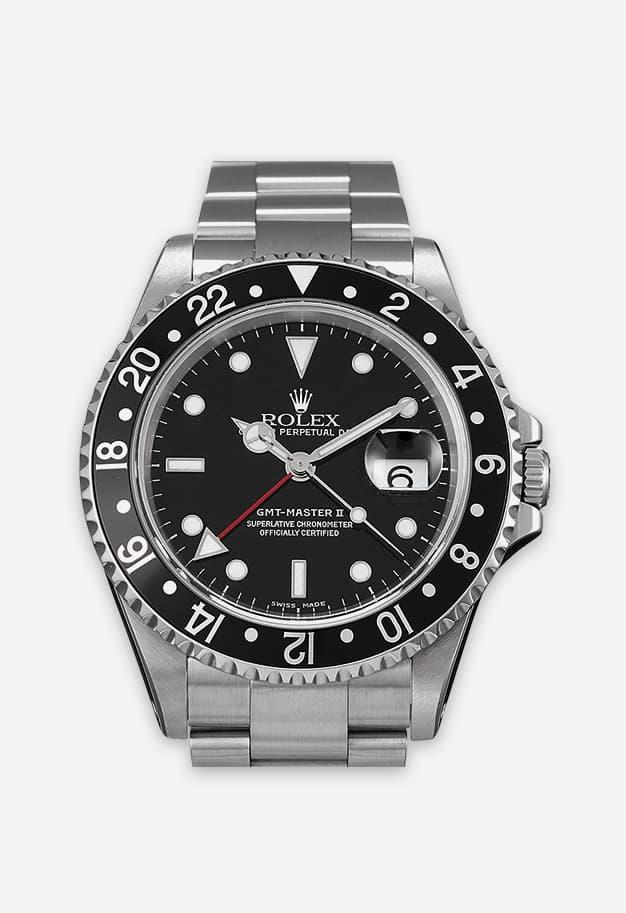 Rolex GMT Master 2 Black Bezel 16710LN