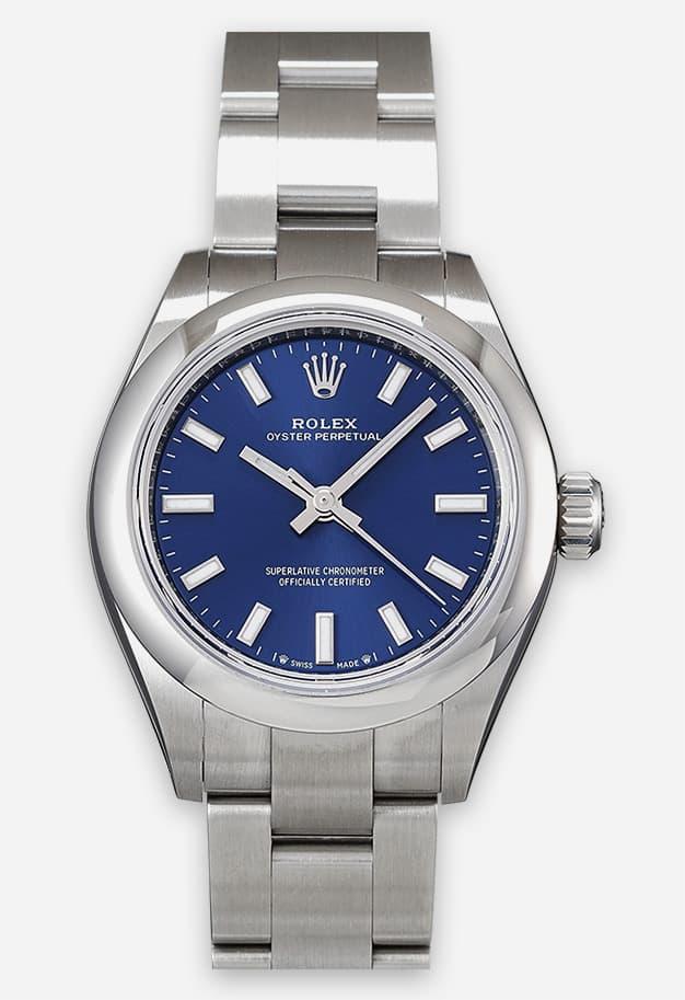Rolex Oyster Perpetual 28 mm Blau 276200-0003