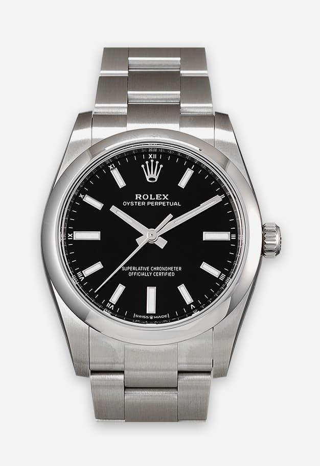 Rolex Oyster Perpetual 34 mm Schwarz 124200-0002