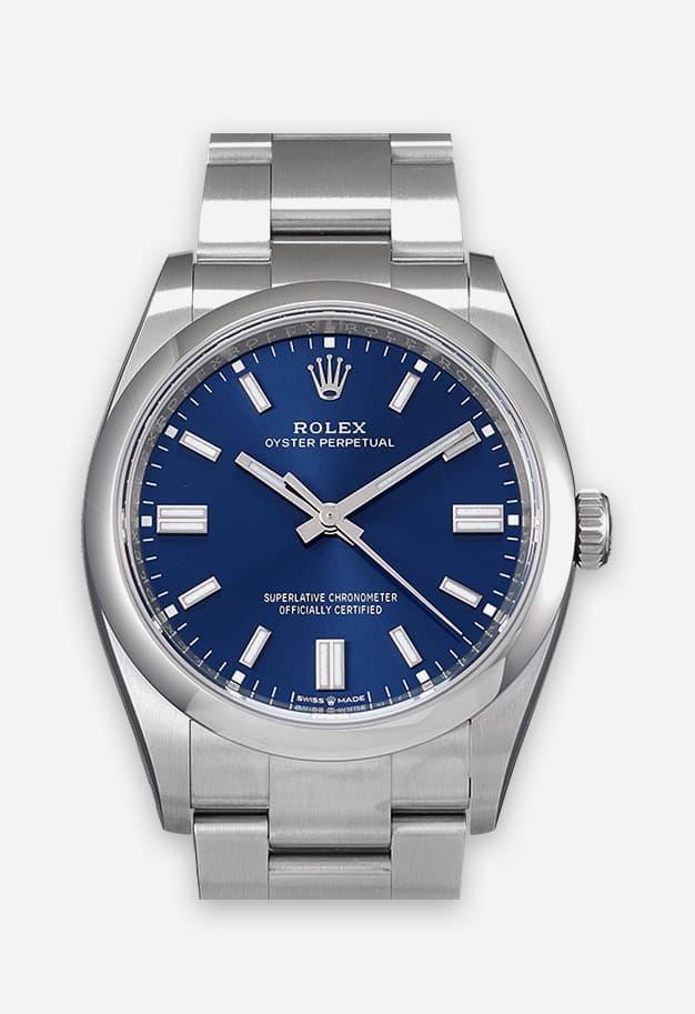Rolex Oyster Perpetual 36 mm Blau 126000-0003