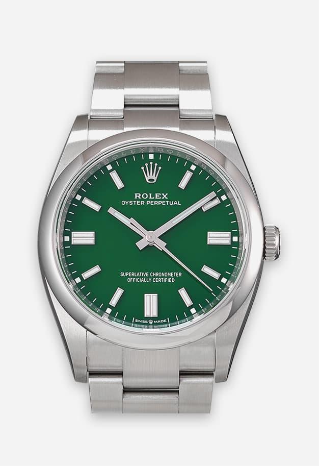 Rolex Oyster Perpetual 36 mm Grün 126000-0005