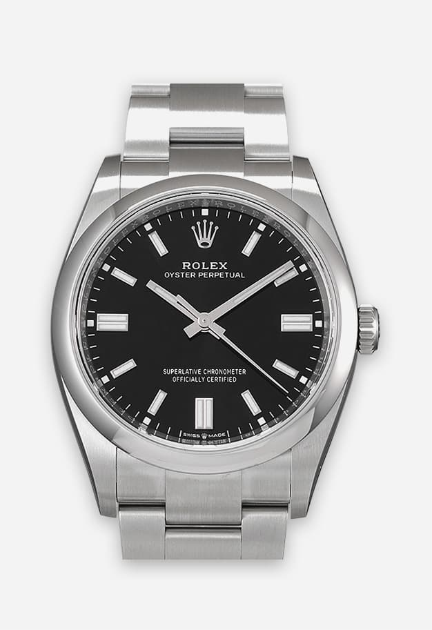 Rolex Oyster Perpetual 36 mm Schwarz 126000-0002