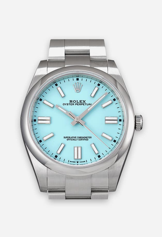 Rolex Oyster Perpetual 36 mm Türkisblau 126000-0006