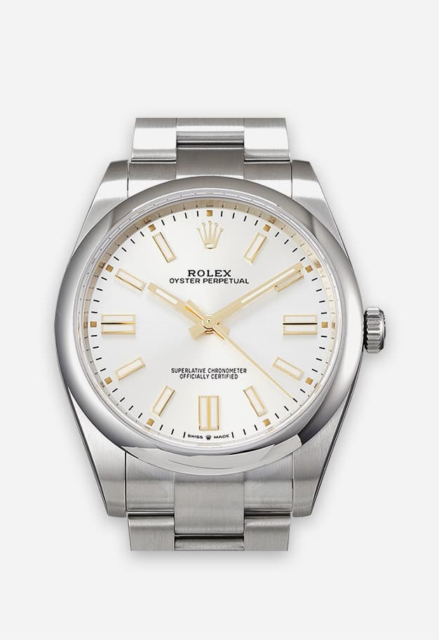 Rolex Oyster Perpetual 41 mm Silber 124300-0003